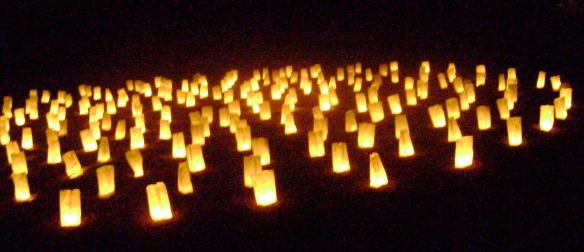 Labyrinth at night