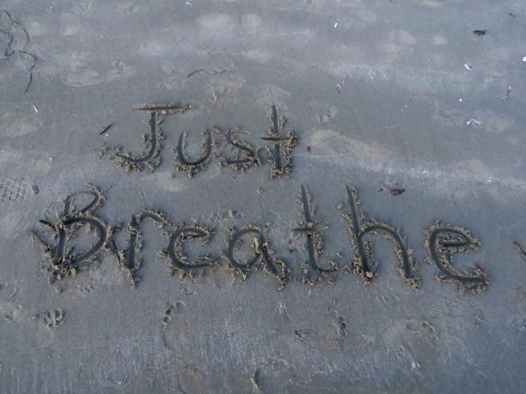 beachwriting_justbreathe