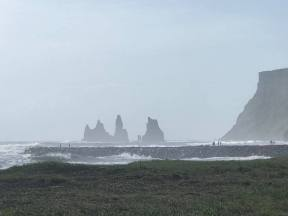 Three trolls caught in the sun and turned to stone at Vik on the South Coast